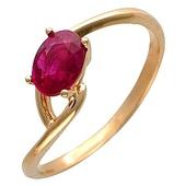 Кольцо с 1 сапфиром весом 0.92 карата из красного золота 585 пробы